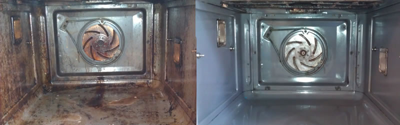 before and after oven cleaning by good as nu edinburgh